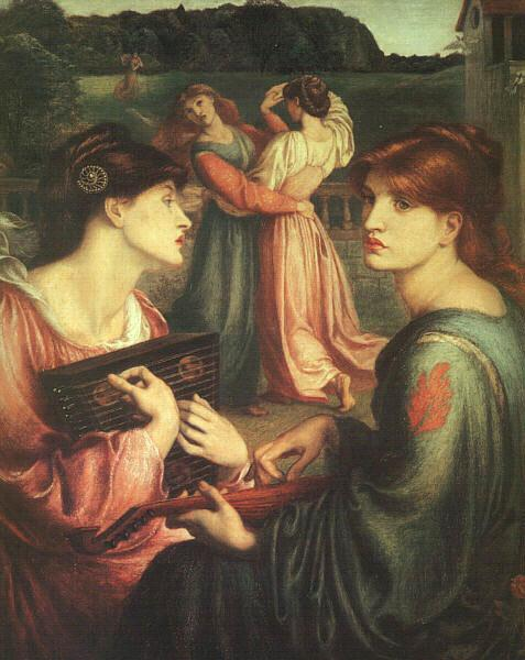 Dante Gabriel Rossetti The Bower Meadow Sweden oil painting art