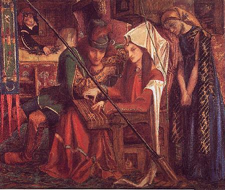 Dante Gabriel Rossetti The Tune of Seven Towers Sweden oil painting art
