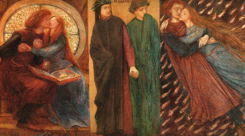 Dante Gabriel Rossetti Paolo and Francesca da Rimini Sweden oil painting art