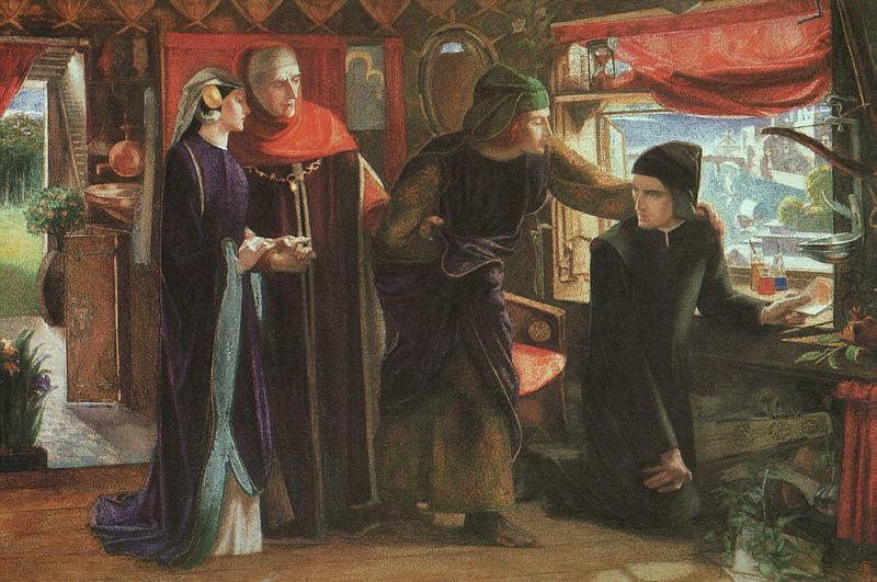 Dante Gabriel Rossetti The First Anniversary of the Death of Beatrice Sweden oil painting art