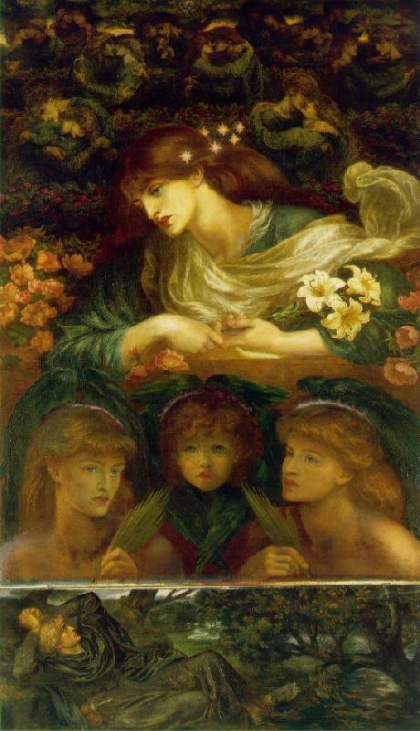Dante Gabriel Rossetti The Blessed Damozel Sweden oil painting art