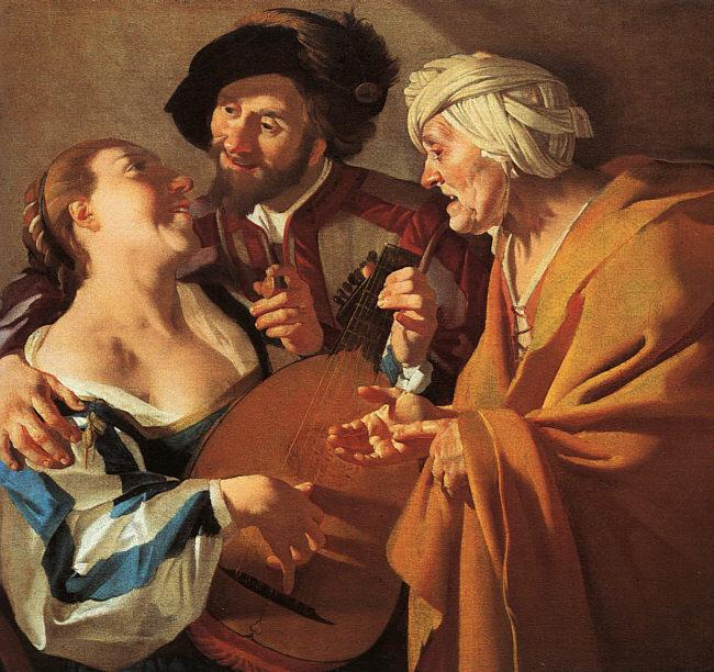 Dirck van Baburen The Procuress oil painting image