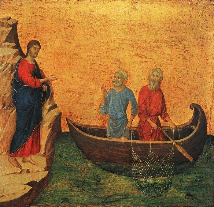 Duccio di Buoninsegna The Calling of the Apostles Peter and Andrew oil painting image
