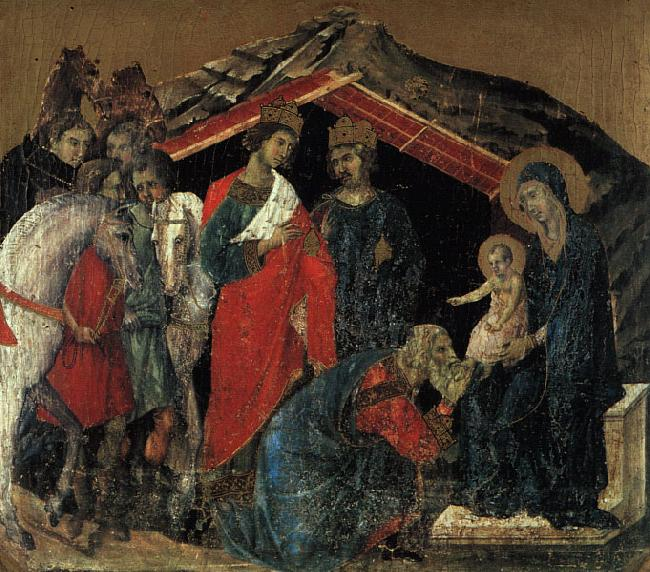 Duccio di Buoninsegna The Maesta Altarpiece oil painting image