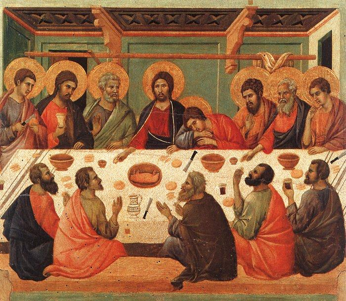 Duccio di Buoninsegna The Last Supper00 oil painting image