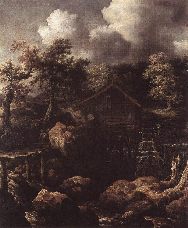 EVERDINGEN, Allaert van Forest Scene with Water-Mill  df oil painting image