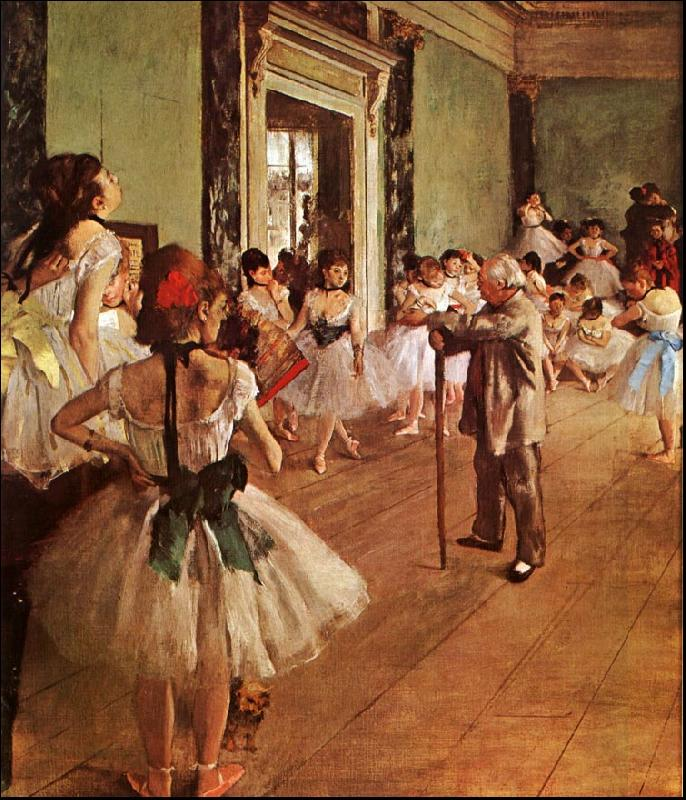 Edgar Degas The Dance Class oil painting image
