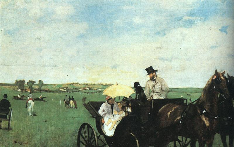 Edgar Degas At the Races in the Country oil painting image