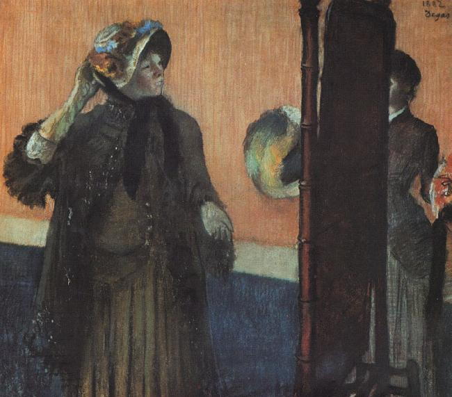 Edgar Degas At the Milliner's_m oil painting image