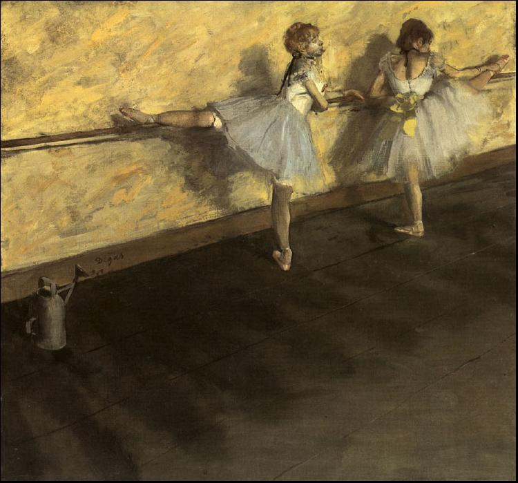 Edgar Degas Dancers Practicing at the Barre oil painting image