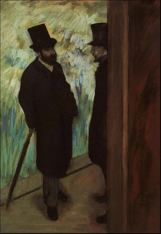 Edgar Degas Halevy and Cave Backstage at the Opera oil painting picture