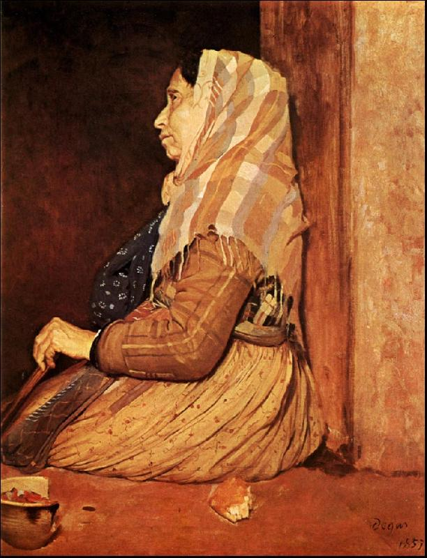 Edgar Degas Roman Beggar Woman oil painting image