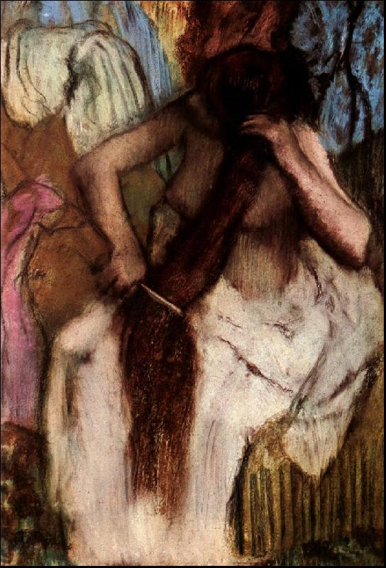 Edgar Degas Seated Woman Combing her Hair Sweden oil painting art