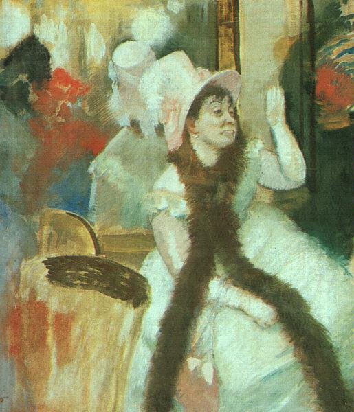 Edgar Degas Portrait after a Costume Ball oil painting image
