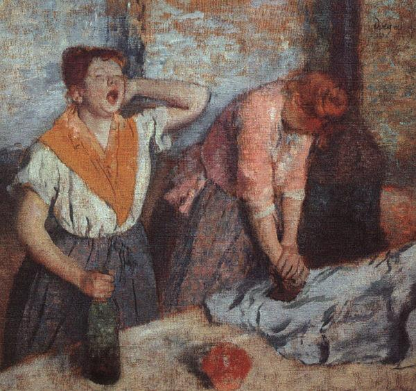 Edgar Degas Laundry Maids oil painting image