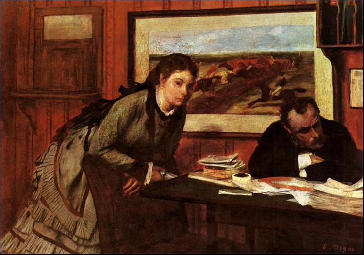 Edgar Degas Sulking oil painting image
