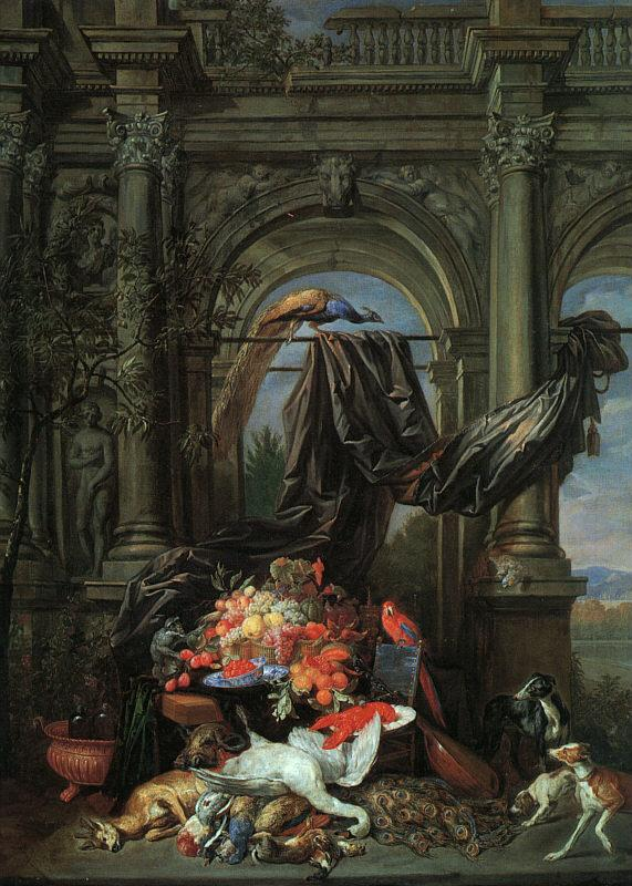 Erasmus Quellinus Still Life in an Architectural Setting oil painting picture