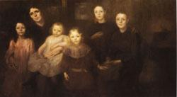 Eugene Carriere The Painter's Family oil painting image