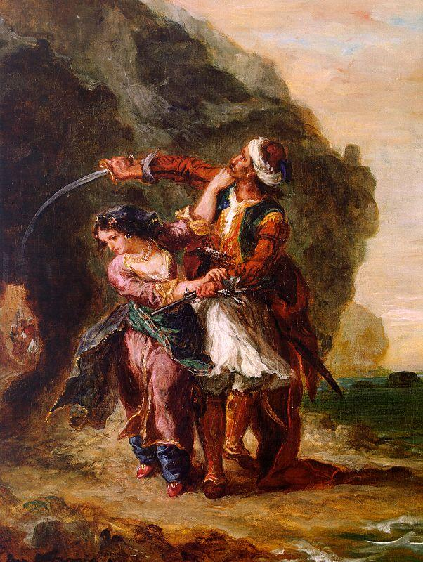 Eugene Delacroix The Bride of Abydos oil painting image