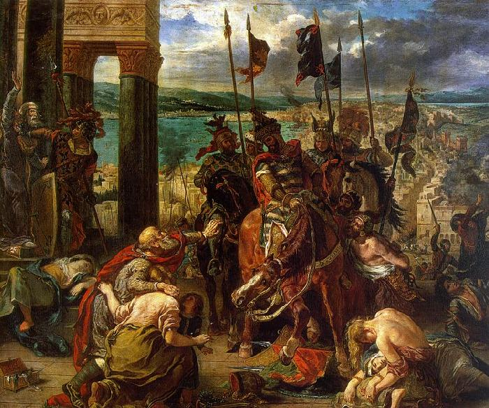 Eugene Delacroix The Entry of the Crusaders into Constantinople oil painting image