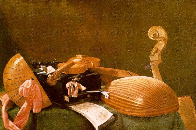 Evaristo Baschenis Still Life of Musical Instruments oil painting image