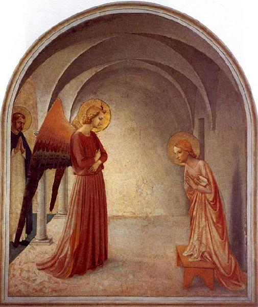 Fra Angelico The Annunciation oil painting picture