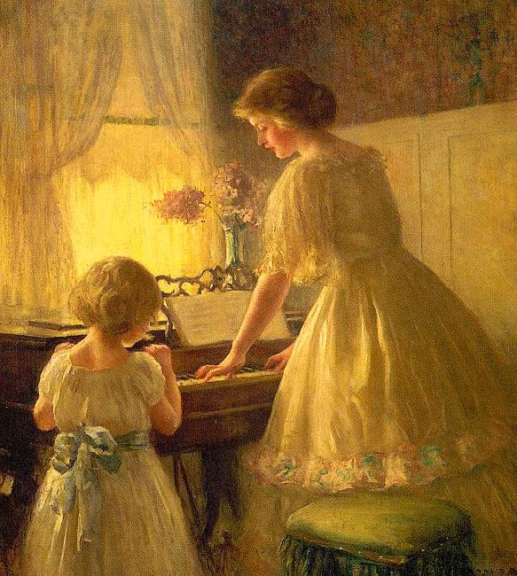 Francis Day The Piano Lesson Sweden oil painting art