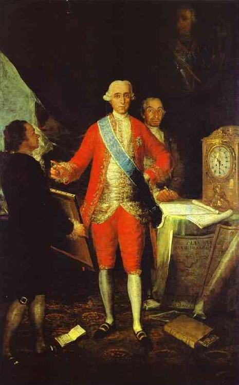 Francisco Jose de Goya Francisco de Goya the Count of Floridablanca and Goya. oil painting image