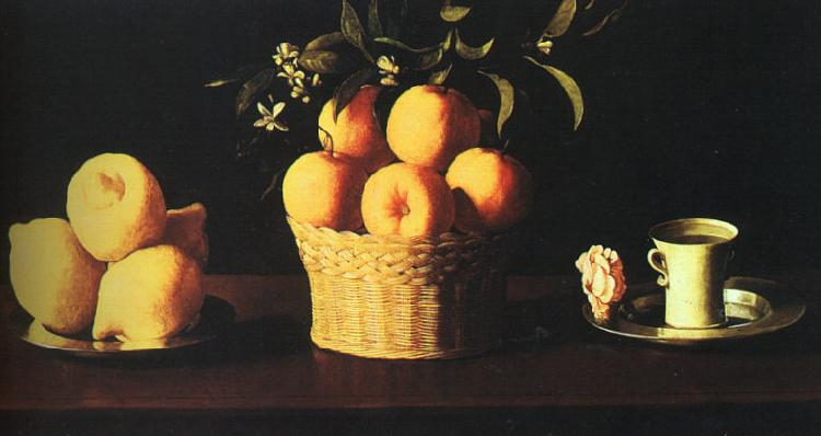 Francisco de Zurbaran Still Life with Oranges and Lemons oil painting picture