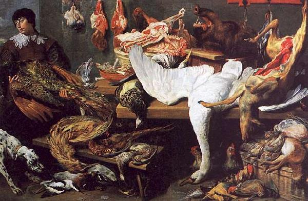 Frans Snyders A Game Stall Sweden oil painting art