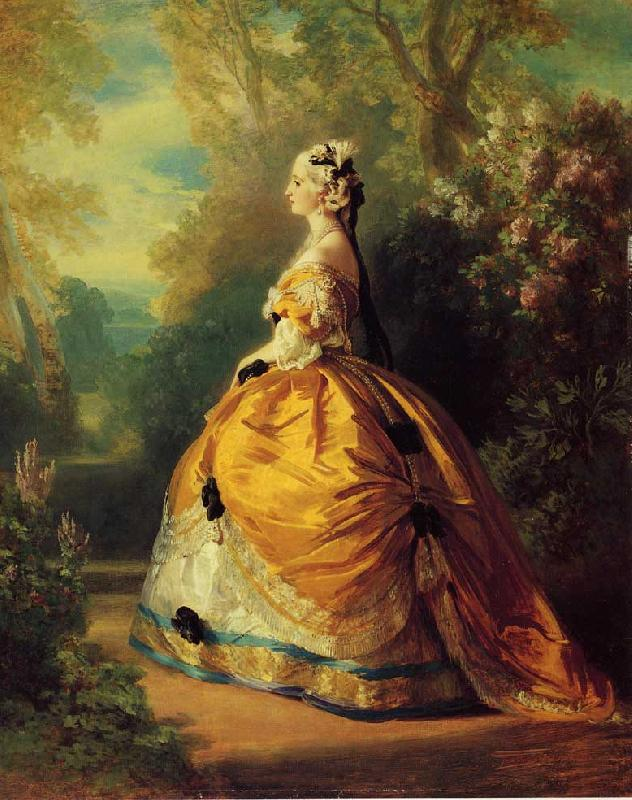 Franz Xaver Winterhalter The Empress Eugenie a la Marie-Antoinette oil painting image