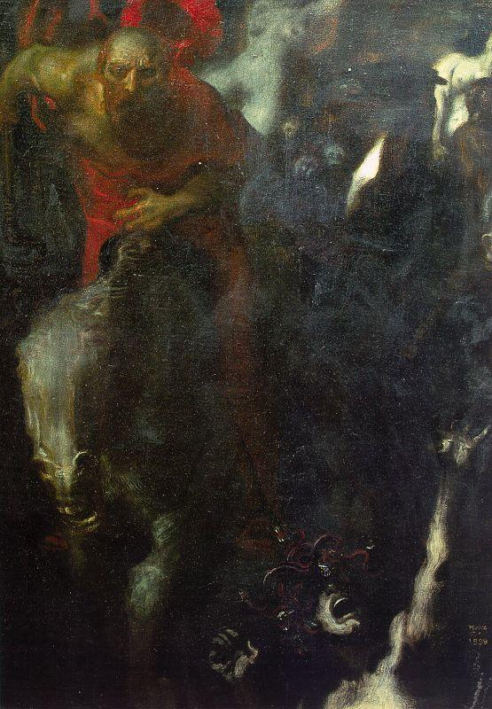 Franz von Stuck The Wild Hunt Sweden oil painting art