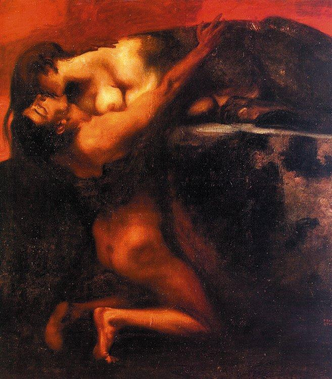 Franz von Stuck The Kiss of the Sphinx Sweden oil painting art