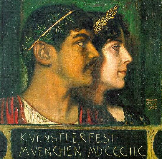 Franz von Stuck Franz and Mary Stuck as a God and Goddess Sweden oil painting art