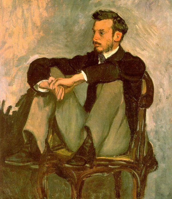 Frederic Bazille Portrait of Renoir oil painting image