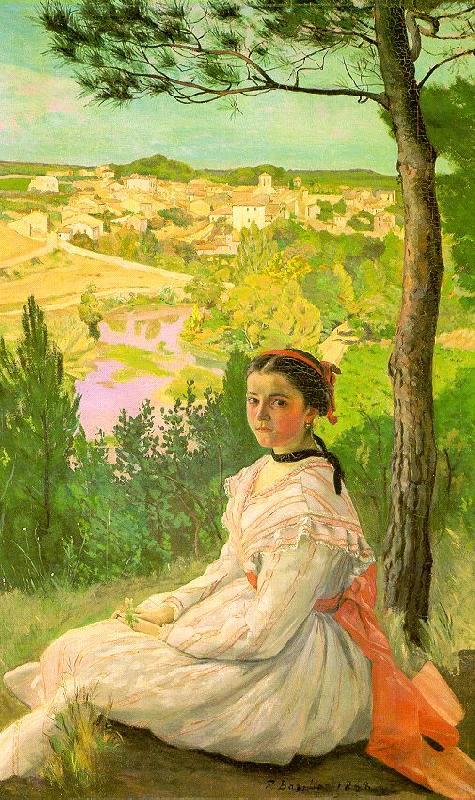 Frederic Bazille View of the Village oil painting image