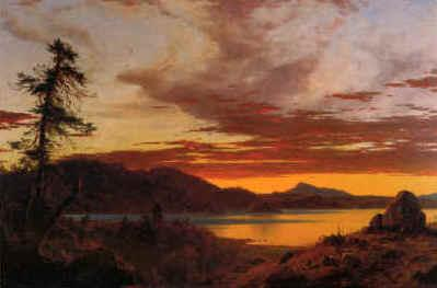 Frederick Edwin Church Sunset Sweden oil painting art