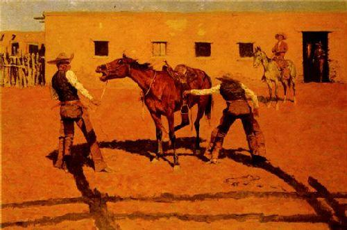 Frederick Remington His First Lesson Sweden oil painting art