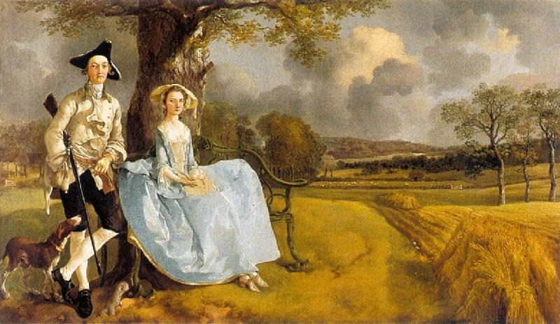 GAINSBOROUGH, Thomas Mr and Mrs Andrews dg oil painting image