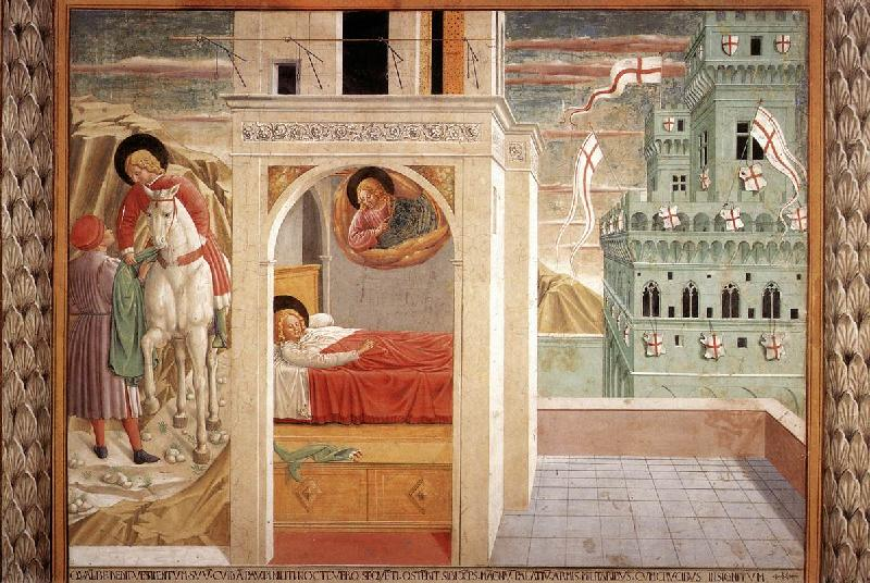 GOZZOLI, Benozzo Scenes from the Life of St Francis (Scene 2, north wall) cd oil painting picture