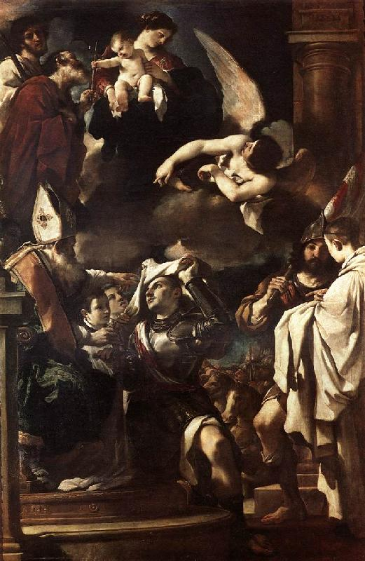 GUERCINO St William of Aquitaine Receiving the Cowln  ngb oil painting image
