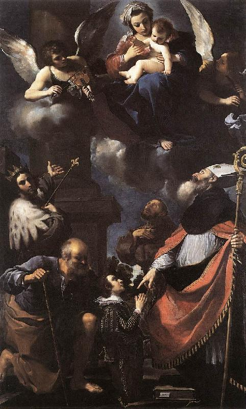 GUERCINO A Donor Presented to the Virgin lkhi Sweden oil painting art