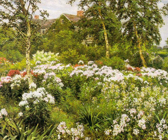 Gaines Ruger Donoho A Garden Sweden oil painting art