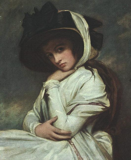 George Romney Lady Hamilton in a Straw Hat Sweden oil painting art