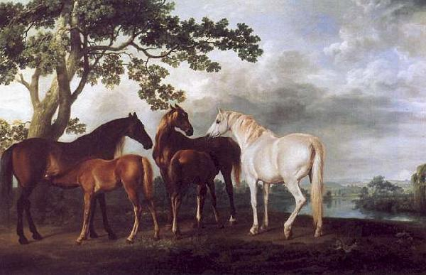George Stubbs Mares and Foals in a Landscape Sweden oil painting art