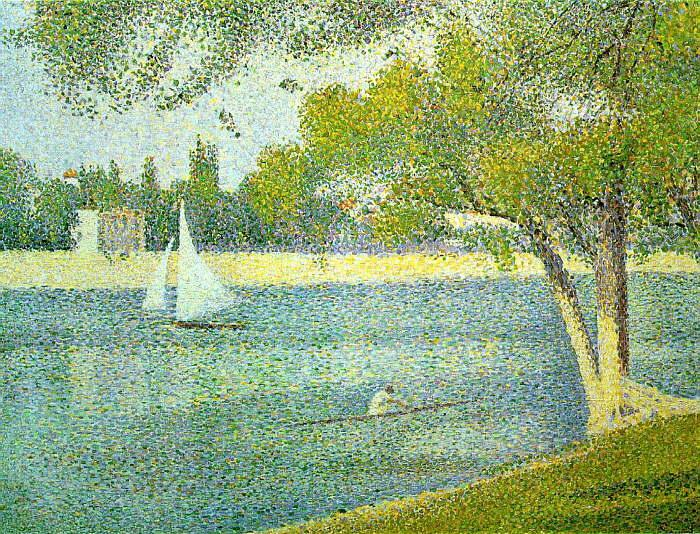 Georges Seurat The Siene at La Grande Jatte Sweden oil painting art