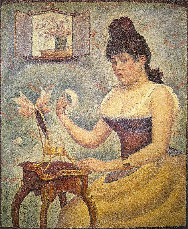 Georges Seurat Young Woman Powdering Herself Sweden oil painting art