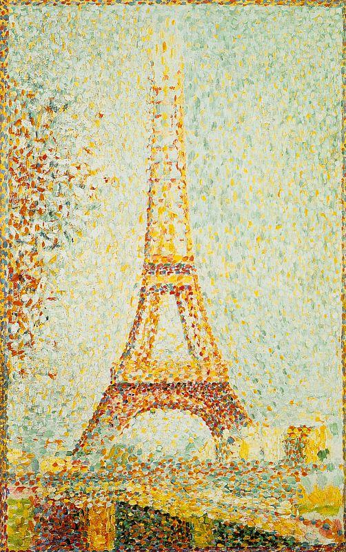 Georges Seurat The Eiffel Tower Sweden oil painting art