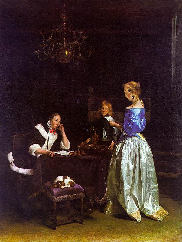 Gerard Ter Borch The Letter_a oil painting image