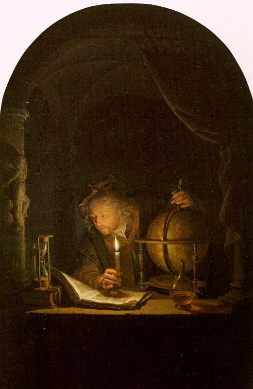 Gerrit Dou Astronomer by Candlelight Sweden oil painting art